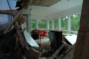roof damage due to storm