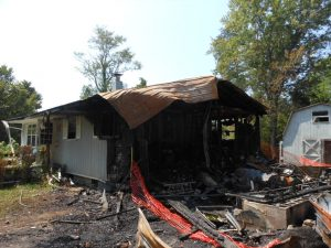 damage caused by house fire