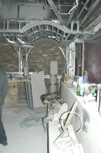 before renovation work area