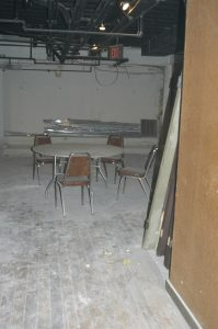 before renovation dining area