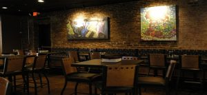 renovated dining area in restaurant in downtown knoxville