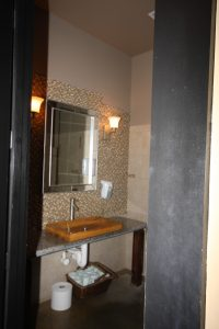 remodeled bathroom of commercial space in knoxville