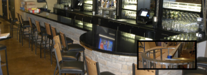 before and after of remodeled bar in downtown knoxville