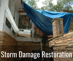 storm damage restoration tile
