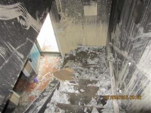 residential home with fire damage